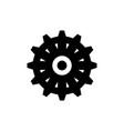 ship steering wheel boat rudder flat icon vector image