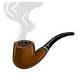 smoking pipe pop art vector image