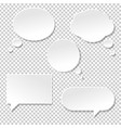 speech bubble big set vector image