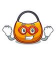 super hero beautifully hobo bag on character funny vector image