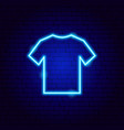 t-shirt neon sign vector image