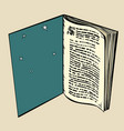 the book is an open window in a dream vector image