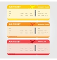 Three Classes of Blank Flight Boarding Pass vector image vector image