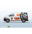 tire service delivery van template with advertise vector image vector image