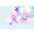Transparent snowflake christmas card background vector image vector image