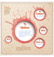 Vintage Web design with wine spots vector image vector image