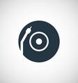 Vinyl turntable icon vector image vector image