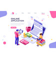 webpage form landing page vector image vector image