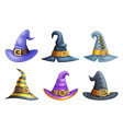witch hat halloween children costume kid vector image vector image