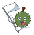 with flag durian mascot cartoon style vector image
