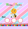 worksheet writing practice alphabet b for bee