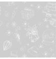 X-mas seamless hand drawn backgrownd gray vector image vector image