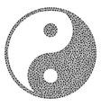yin yang mosaic of dots vector image vector image