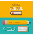 back to school design element 02 vector image
