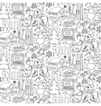 Winter doodle seamless pattern vector image