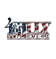 4th july cut out independence day vector image vector image