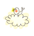 A bird in the cloud vector image vector image