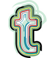 Abstract colorful Letter t vector image vector image