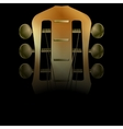 acoustic neck guitar close-up vector image vector image