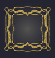 art nouveau gold glitter decorative rectangle vector image vector image