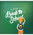 Back to School hand written lettering vector image vector image