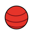 ball sport red flat vector image vector image
