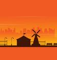 beauty landscape amusement park silhouettes vector image vector image