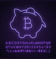 bitcoin deposit neon light icon vector image