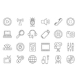 black house electronic icons set vector image vector image