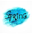 Blue pastel art spring background vector image