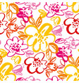 botanical hand drawn colorful seamless pattern vector image vector image