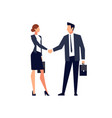 businessmen shake hands isolated vector image vector image