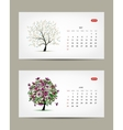 calendar 2015 may and june months Art vector image vector image