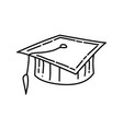 cap icon doodle hand drawn or outline icon style vector image
