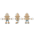 Cartoon character cute robot for a computer game vector image vector image