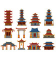 chinese buildings architectural asian temples vector image