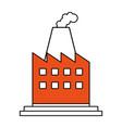 color silhouette image cartoon building industrial vector image vector image