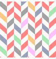 colorful seamless chevron pattern beautiful vector image