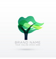 creative tree logo design vector image