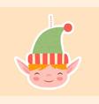 cute little elf christmas tree ornament vector image vector image