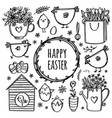 easter collection holiday monochrome vector image vector image