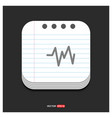 ecg icon gray icon on notepad style template eps vector image