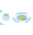 esg concept environmental social vector image vector image