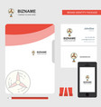 fan business logo file cover visiting card and vector image vector image