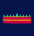 flat shading style icon cream cake vector image vector image