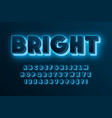 futuristic sci-fi alphabet extra glowing space vector image
