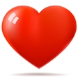 Glossy red heart vector image vector image