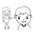 hand draw kid vector image
