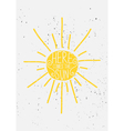 hand drawn sun typographic design vector image