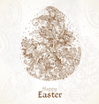Happy Easter vintage background with delicate egg vector image